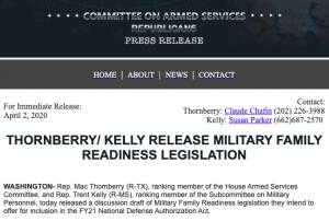 Military Family Readiness Legislation